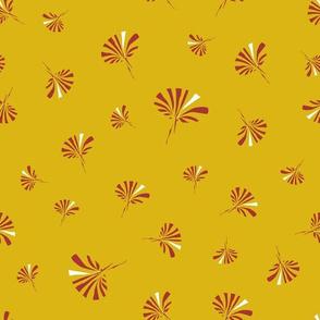 dark cheddar daisies