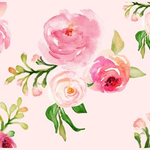 """42""""x36"""" Roses for Julie Pink Back"""