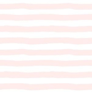 """6"""" Pink and white stripes"""
