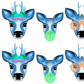 Neon Deer Family