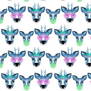 Happy Deer Family blue