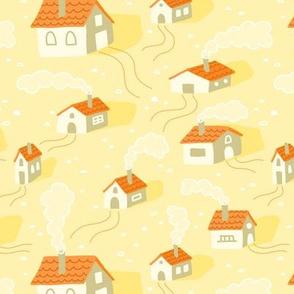 Cozy Houses Yellow