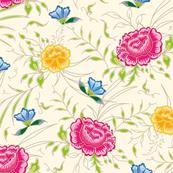 romantic exotic chintz roses