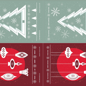 SPOONFLOWER - Christmas Tea Towel x 4 FINAL