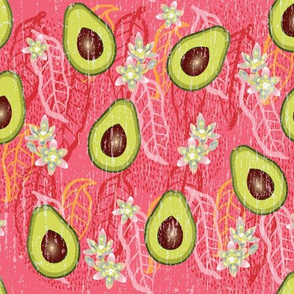 In Praise Of Avocados-Distressed Coral