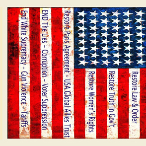 Political - Vote for Democracy - Fat Quarter 27x18 Tea Towel