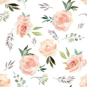 """21"""" Peach Roses"""
