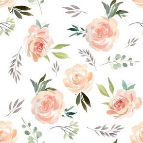 """8"""" Peach Roses"""