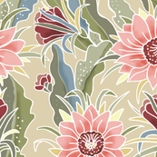 Dragon Flower Chintz