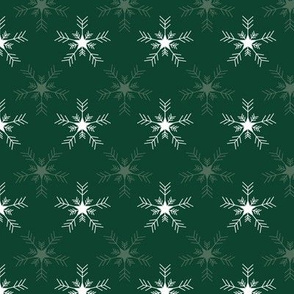 Green winter snowflakes pattern