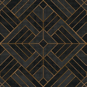 Lennox Vintage Deco Geo - Black & Copper