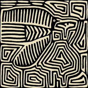 Kuna Indian Pajaro Wallpaperl - 27x27