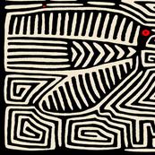 Kuna Indian Pajaro Tea Towel - 27x18