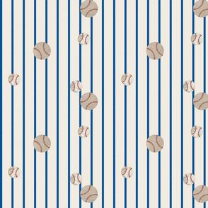 baseball toss ocean stripes 979 -  on cream