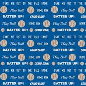 Cream text -ocean  baseball vintage navy  baseball stars and text LARGE 10