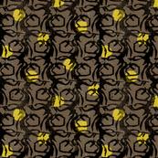 Understory - Mocha & Yellow Ochre.
