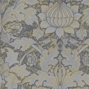 William Morris ~ Growing Damask ~ Grey Garden in the Mist
