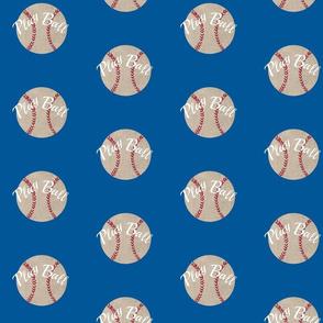 baseball vintage ocean  - Large 467 Play Ball