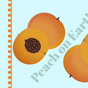 peach on earth tea towel