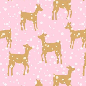 Fawns| Polkadot Snow |Pink Tan|Renee Davis