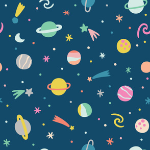 Colorful Planets Pattern