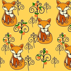 The Fox & the Whimsical Woods / Yellow