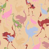 Oriental Galore 01 (Crane Birds of Japan)
