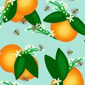 Vintage Orange & Bee Serenade 2