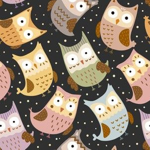 Funny owls pattern
