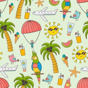 Summer time holidays pattern