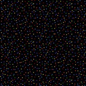 Multi-colored Rainbow Dots on Black (smaller)