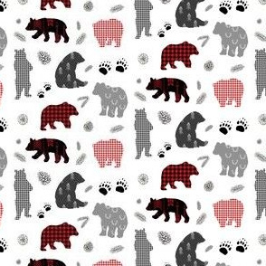 "2.5"" Patchwork Winter Bears"