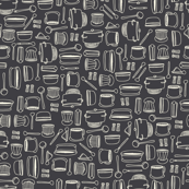 Pots and Pans with charcoal black background