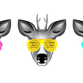 Party Deers with glasses