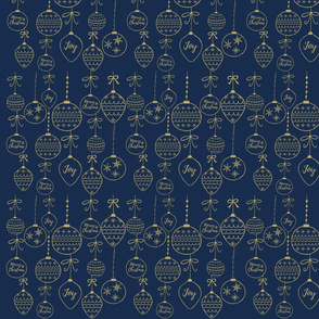 Gold Ornaments on Blue