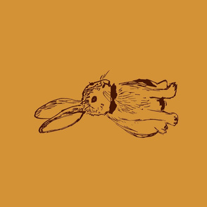 Woodland Rabbit Tea Towel