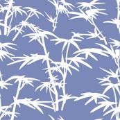 White Bamboo on blue background