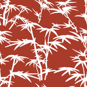 White Branches on Red background