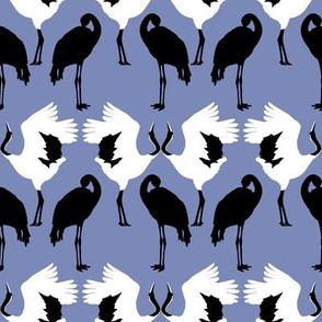 Cranes on Blue