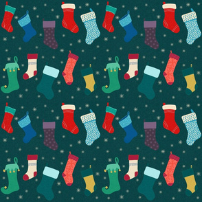 Holiday Stockings Forest