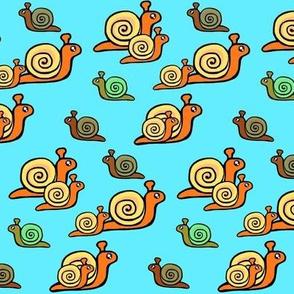 Snails / Walk this Way - Bright Blue