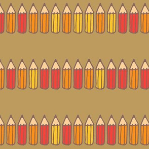 Pencil Stripe {Classic Gold}