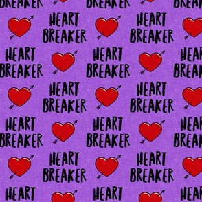 heart breaker - heart & arrow valentines - purple - LAD19