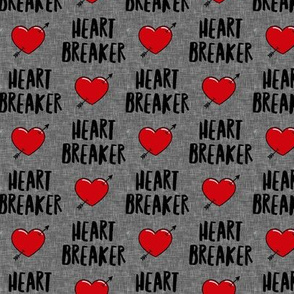 heart breaker - heart & arrow valentines - grey - LAD19