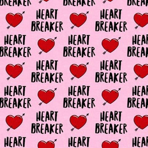 heart breaker - heart & arrow valentines - pink - LAD19