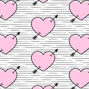 heart & stripes - pink - valentines - LAD19
