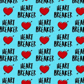 heart breaker - heart & arrow valentines - blue - LAD19