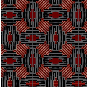 High-tech urban striped pattern