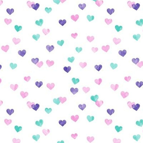 multi hearts - valentines - purple pink teal - LAD19