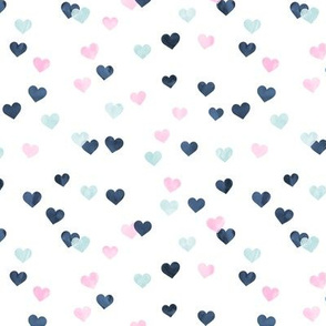 multi hearts - valentines - pink and blue  - LAD19